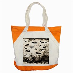 Vintage Halloween Bat Pattern Accent Tote Bag