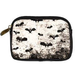 Vintage Halloween Bat Pattern Digital Camera Cases by Valentinaart