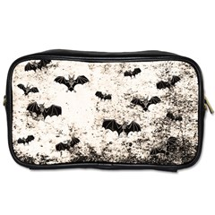 Vintage Halloween Bat Pattern Toiletries Bags 2 Side by Valentinaart