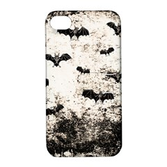 Vintage Halloween Bat Pattern Apple Iphone 4/4s Hardshell Case With Stand by Valentinaart