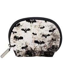 Vintage Halloween Bat Pattern Accessory Pouches (small)