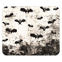 Vintage Halloween Bat Pattern Double Sided Flano Blanket (small)