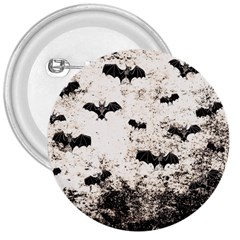 Vintage Halloween Bat Pattern 3  Buttons by Valentinaart