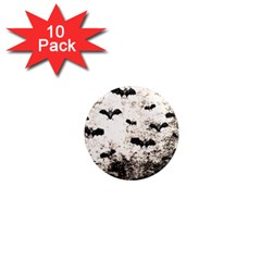 Vintage Halloween Bat Pattern 1  Mini Magnet (10 Pack)  by Valentinaart