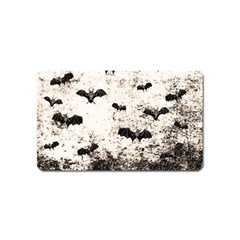 Vintage Halloween Bat Pattern Magnet (name Card) by Valentinaart