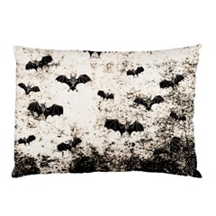 Vintage Halloween Bat Pattern Pillow Case by Valentinaart