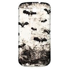 Vintage Halloween Bat Pattern Samsung Galaxy S3 S Iii Classic Hardshell Back Case by Valentinaart