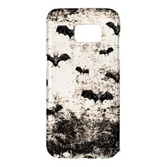 Vintage Halloween Bat Pattern Samsung Galaxy S7 Edge Hardshell Case by Valentinaart