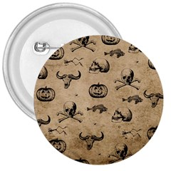 Vintage Halloween Pattern 3  Buttons