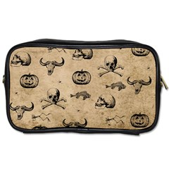 Vintage Halloween Pattern Toiletries Bags 2 Side by Valentinaart