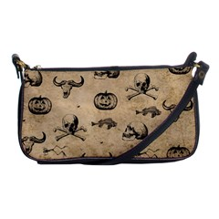 Vintage Halloween Pattern Shoulder Clutch Bags by Valentinaart