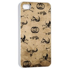 Vintage Halloween Pattern Apple Iphone 4/4s Seamless Case (white) by Valentinaart