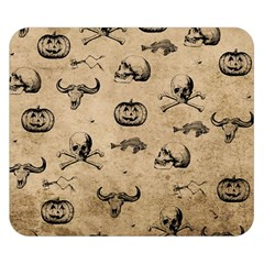 Vintage Halloween Pattern Double Sided Flano Blanket (small)  by Valentinaart