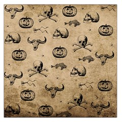 Vintage Halloween Pattern Large Satin Scarf (square) by Valentinaart