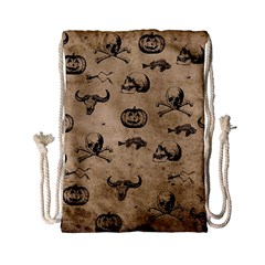 Vintage Halloween Pattern Drawstring Bag (small) by Valentinaart
