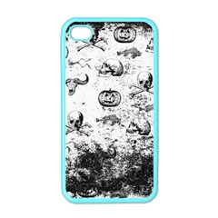 Vintage Halloween Pattern Apple Iphone 4 Case (color) by Valentinaart