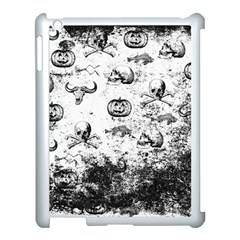 Vintage Halloween Pattern Apple Ipad 3/4 Case (white) by Valentinaart