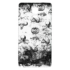 Vintage Halloween Pattern Galaxy Note 4 Back Case by Valentinaart