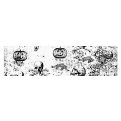 Vintage Halloween Pattern Satin Scarf (oblong) by Valentinaart
