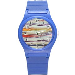 Imagesart Li Photo 27 06 2017, 8 10 22 Am Cara Azul Round Plastic Sport Watch (s) by MaryIllustrations