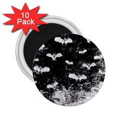Vintage Halloween Bat Pattern 2 25  Magnets (10 Pack)  by Valentinaart