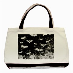 Vintage Halloween Bat Pattern Basic Tote Bag (two Sides) by Valentinaart