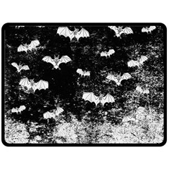 Vintage Halloween Bat Pattern Fleece Blanket (large)  by Valentinaart