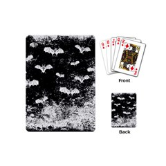 Vintage Halloween Bat Pattern Playing Cards (mini)  by Valentinaart