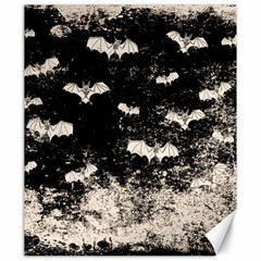 Vintage Halloween Bat Pattern Canvas 20  X 24   by Valentinaart