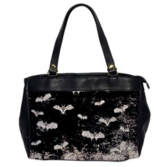 Vintage Halloween Bat Pattern Office Handbags by Valentinaart
