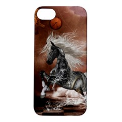 Steampunk, Awesome Steampunk Horse With Clocks And Gears In Silver Apple Iphone 5s/ Se Hardshell Case by FantasyWorld7