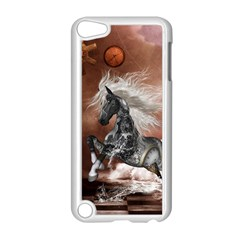 Steampunk, Awesome Steampunk Horse With Clocks And Gears In Silver Apple Ipod Touch 5 Case (white) by FantasyWorld7