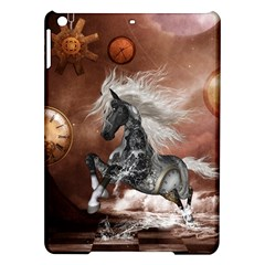 Steampunk, Awesome Steampunk Horse With Clocks And Gears In Silver Ipad Air Hardshell Cases by FantasyWorld7
