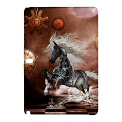 Steampunk, Awesome Steampunk Horse With Clocks And Gears In Silver Samsung Galaxy Tab Pro 12 2 Hardshell Case by FantasyWorld7