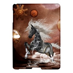 Steampunk, Awesome Steampunk Horse With Clocks And Gears In Silver Samsung Galaxy Tab S (10 5 ) Hardshell Case  by FantasyWorld7