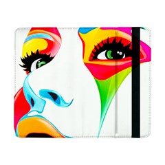 Colourful Art Face Samsung Galaxy Tab Pro 8 4  Flip Case by MaryIllustrations