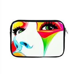 Colourful Art Face Apple Macbook Pro 15  Zipper Case by MaryIllustrations