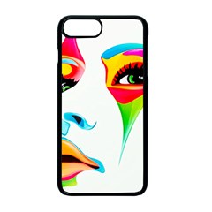Colourful Art Face Apple Iphone 7 Plus Seamless Case (black) by MaryIllustrations