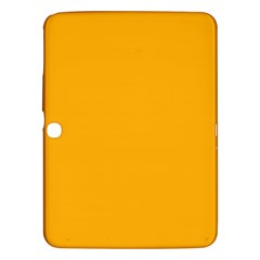 Pale Pumpkin Orange Creepy Hollow Halloween  Samsung Galaxy Tab 3 (10 1 ) P5200 Hardshell Case  by PodArtist