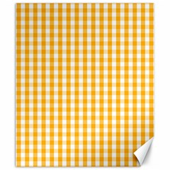 Pale Pumpkin Orange And White Halloween Gingham Check Canvas 20  X 24   by PodArtist