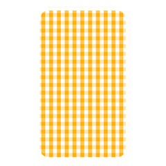 Pale Pumpkin Orange And White Halloween Gingham Check Memory Card Reader by PodArtist