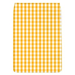 Pale Pumpkin Orange And White Halloween Gingham Check Flap Covers (s)  by PodArtist