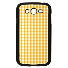 Pale Pumpkin Orange And White Halloween Gingham Check Samsung Galaxy Grand Duos I9082 Case (black) by PodArtist