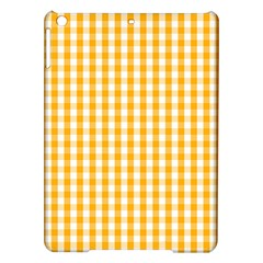 Pale Pumpkin Orange And White Halloween Gingham Check Ipad Air Hardshell Cases by PodArtist