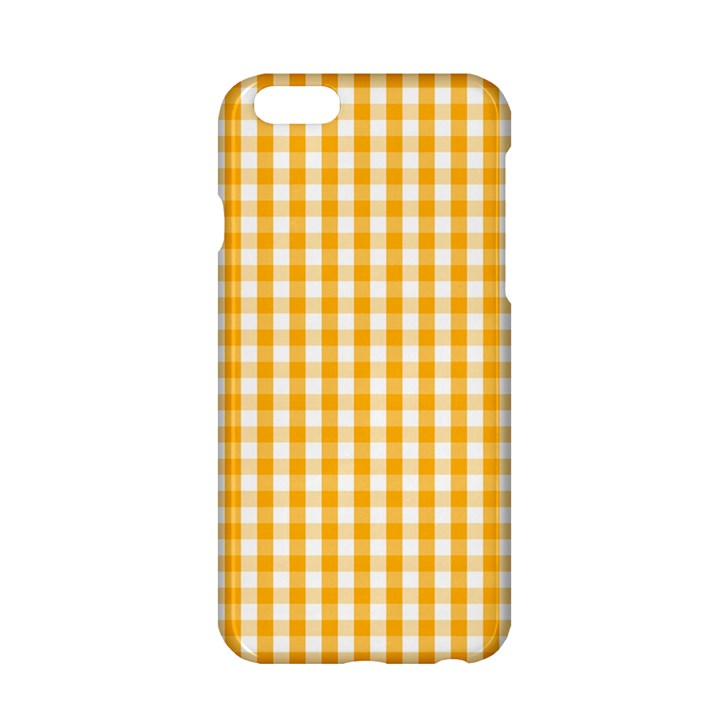 Pale Pumpkin Orange and White Halloween Gingham Check Apple iPhone 6/6S Hardshell Case