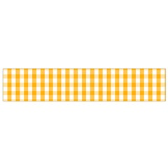 Pale Pumpkin Orange And White Halloween Gingham Check Flano Scarf (small) by PodArtist
