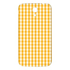 Pale Pumpkin Orange And White Halloween Gingham Check Samsung Galaxy Mega I9200 Hardshell Back Case by PodArtist