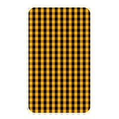 Pale Pumpkin Orange And Black Halloween Gingham Check Memory Card Reader by PodArtist