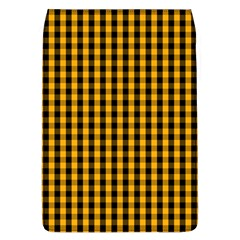 Pale Pumpkin Orange And Black Halloween Gingham Check Flap Covers (l)  by PodArtist