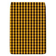 Pale Pumpkin Orange And Black Halloween Gingham Check Flap Covers (s)  by PodArtist